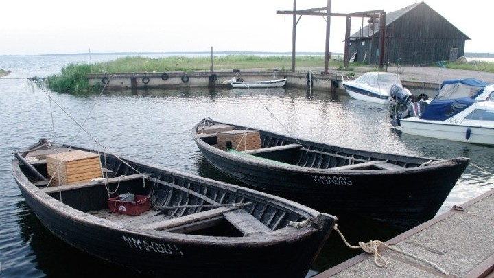 Lappaja type fisher's boats at Salinõmme, Hiiumaa